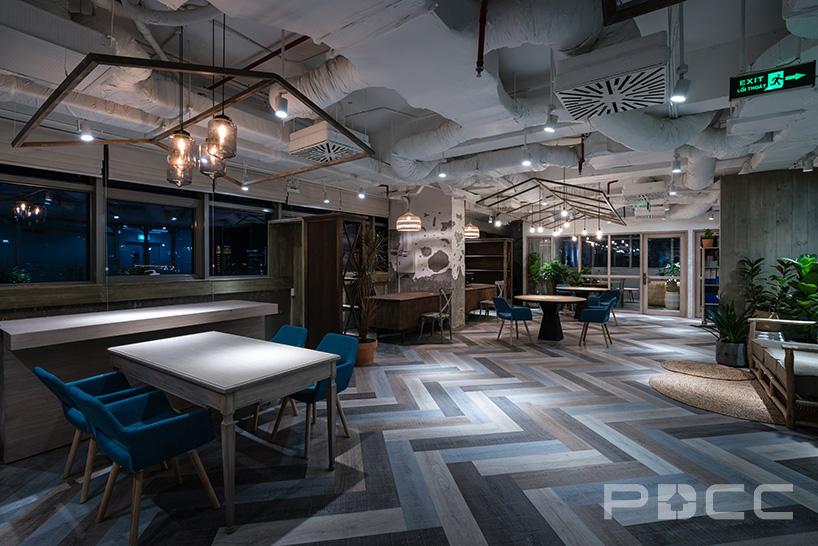 红5工作室设计房产办公室办公室装修2