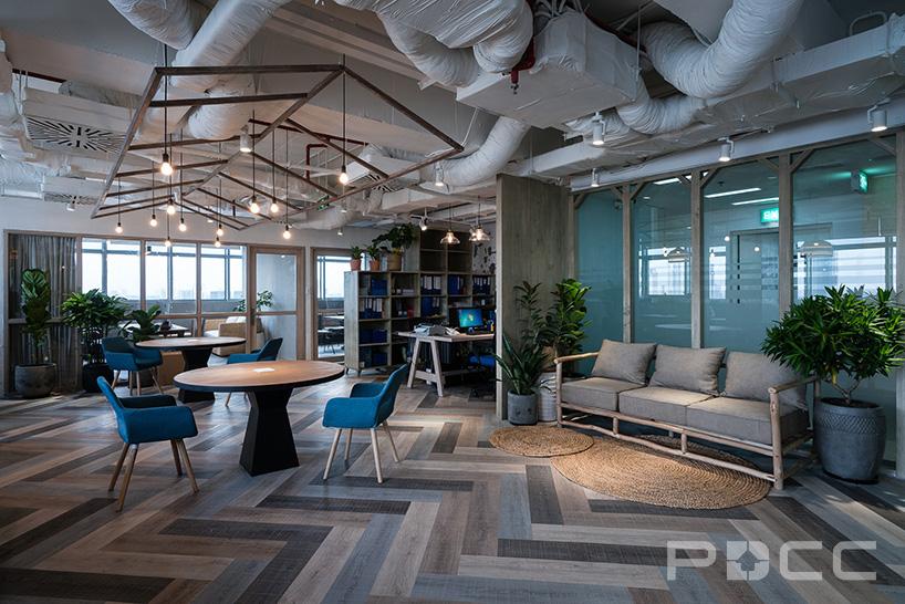 红5工作室设计房产办公室办公室装修3