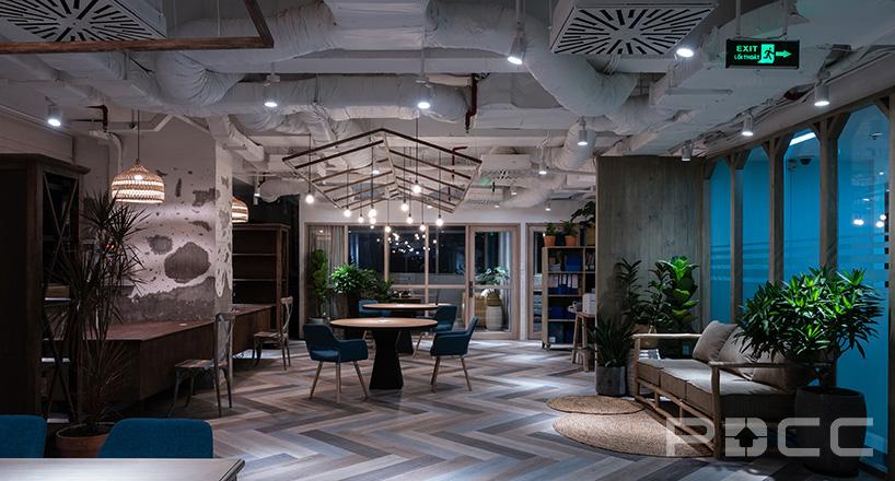 红5工作室设计房产办公室办公室装修4