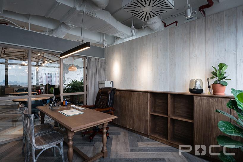 红5工作室设计房产办公室办公室装修7