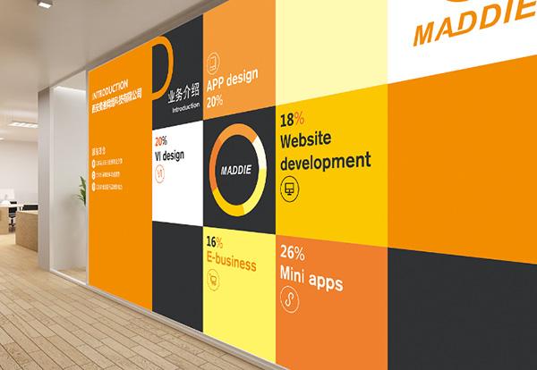 现代办公室设计之形象墙篇