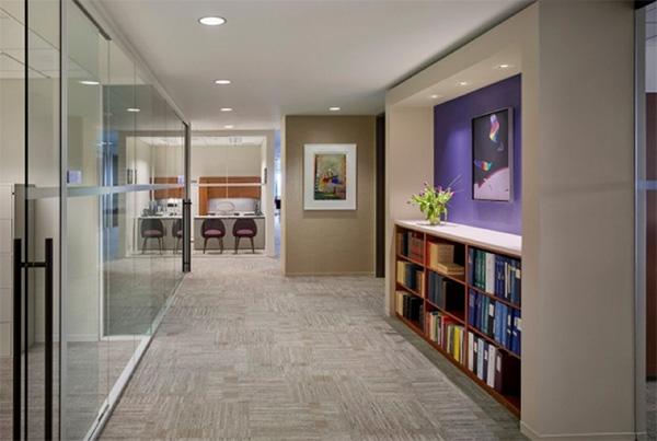 这样的办公室装修可以有效降低噪音