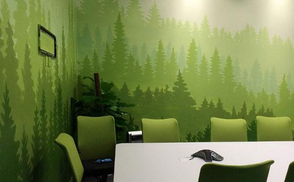 办公室装修选择墙面彩绘,需要注意哪些事项
