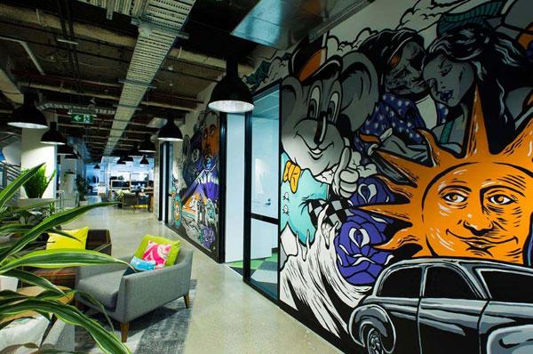 办公室设计时,墙面设计可以用这几招