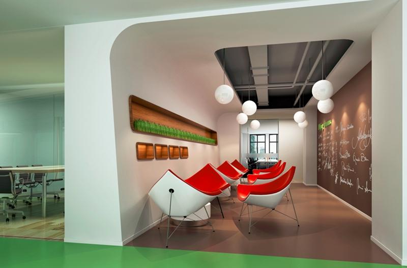 上海办公室装修中墙面装修的几种主要方式